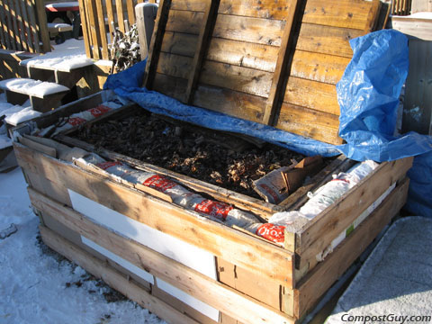 My Souped Up Winter Composting Bin
