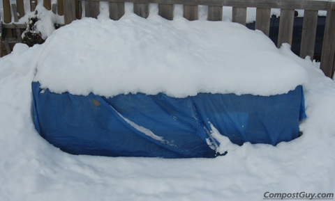 Yet Another Dump of Snow on the Winter Composting Bin